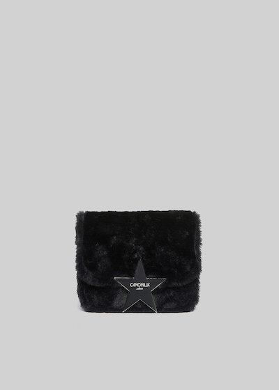Bellia Clutch bag eco fur effect with star detail