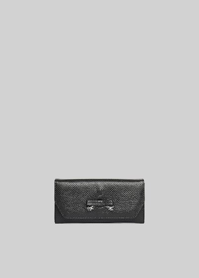 Paita wallet faux leather python effect with bow