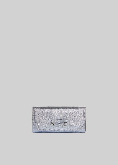 Pitter Wallet glitter effect with bow detail