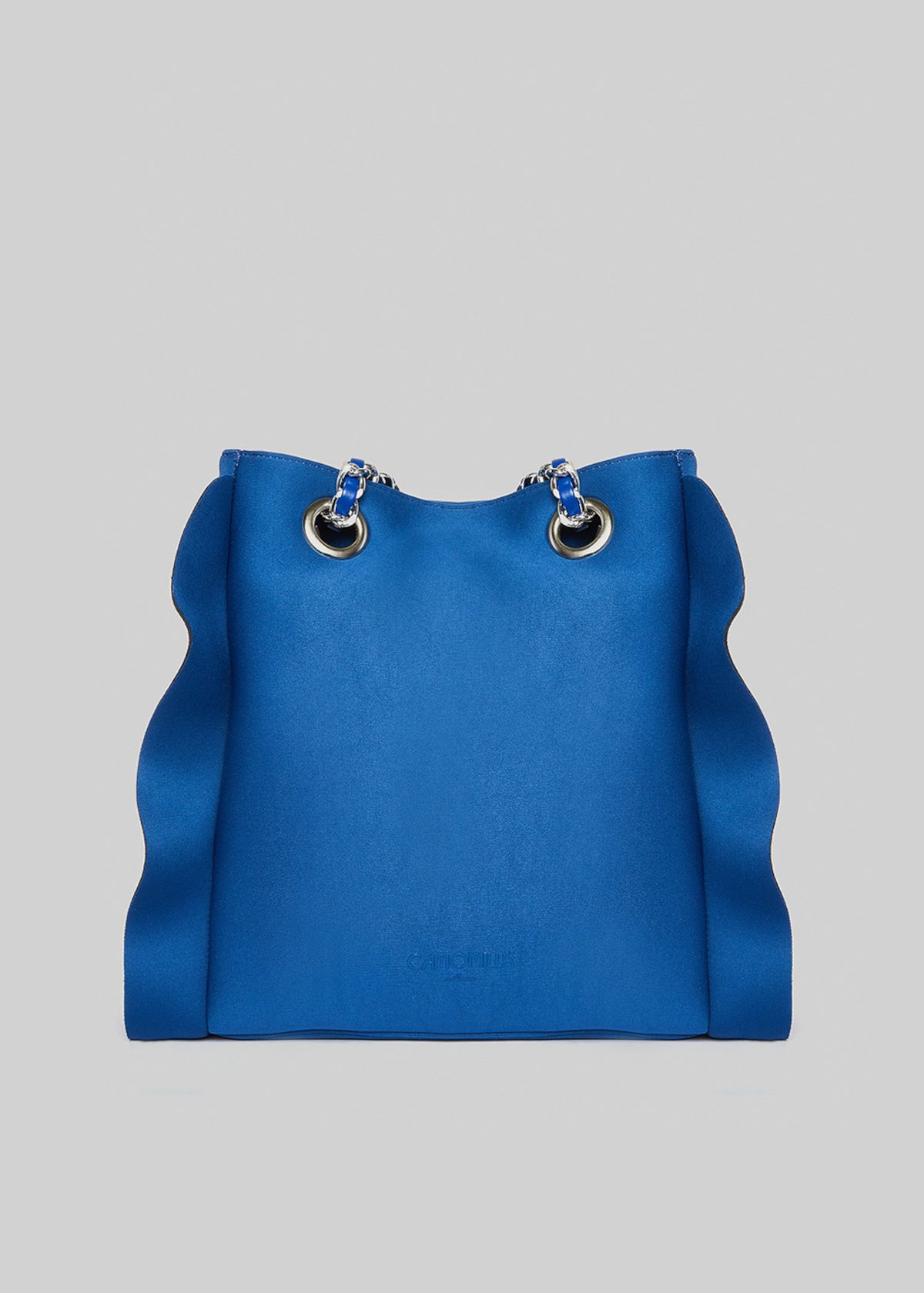 Neoprene Microruffle bag with ruffles