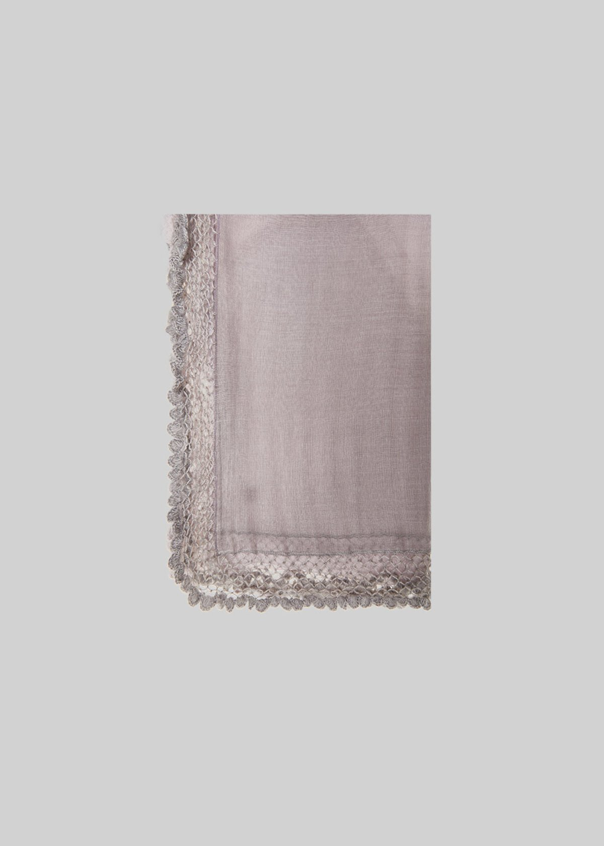 Sche scarf with wool ruffles detail - Mousse / Onion - Woman - Category image