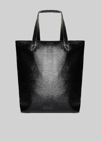 Barry shopping bag in fabric with silver zip