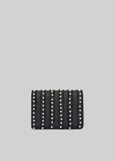 Fede Pear rigid clutch with beads