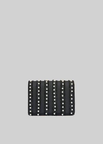 Fede Pear rigid clutch with beads