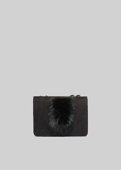 Fede Four rigid clutch with fake fur detail