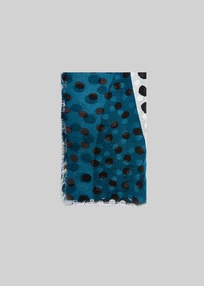 Sande bicolor scarf polka dots print