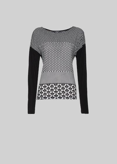 T-shirt Susi in jersey con scollo tondo