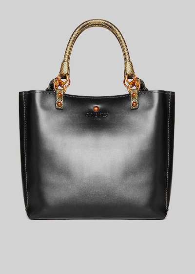 Britney bag Faux leather with python effect details