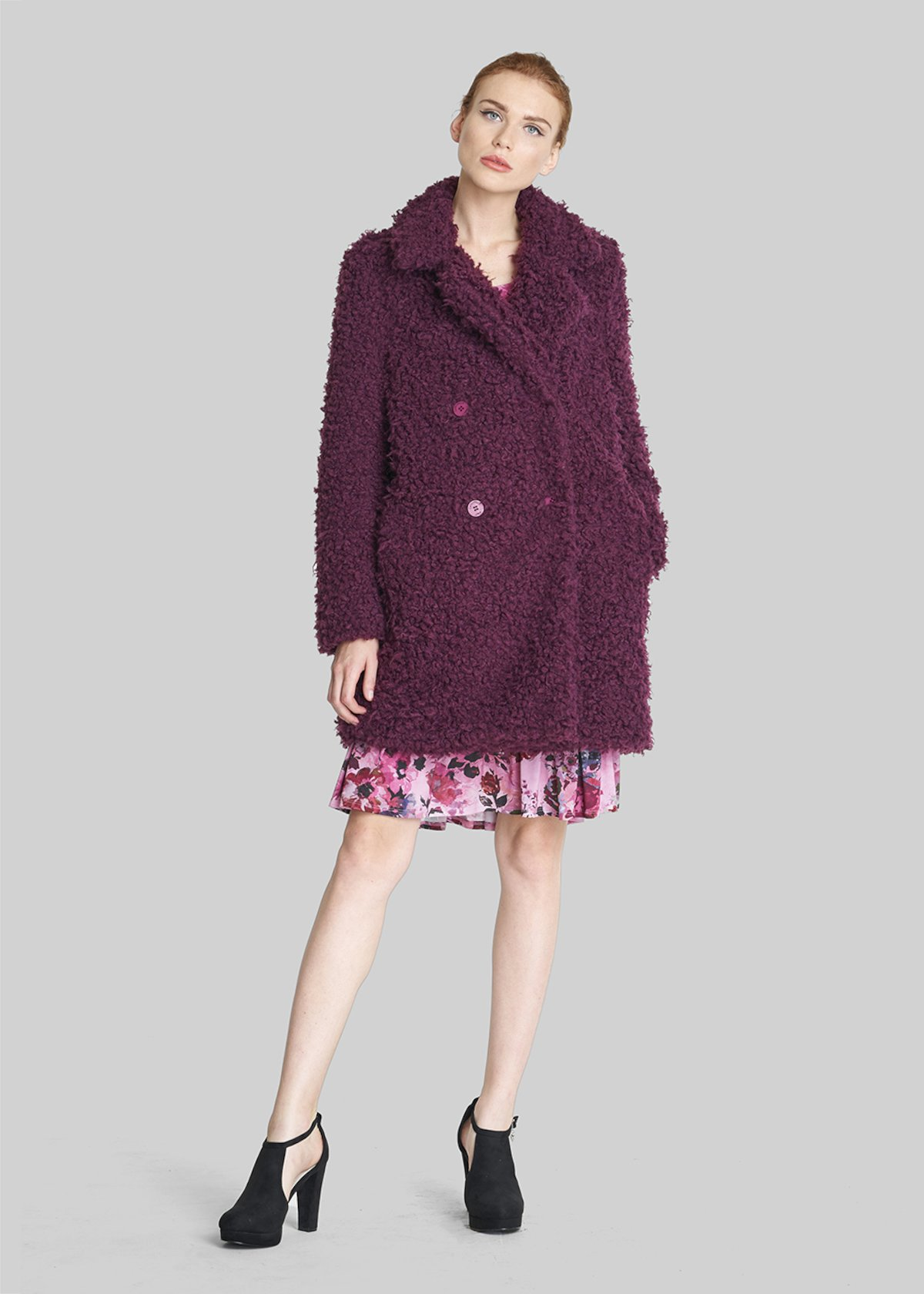 Carlos Faux fur with lapel collar - Purple - Woman - Category image