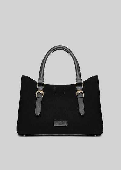 Blondie bag in neoprene and faux leather and buckle detail