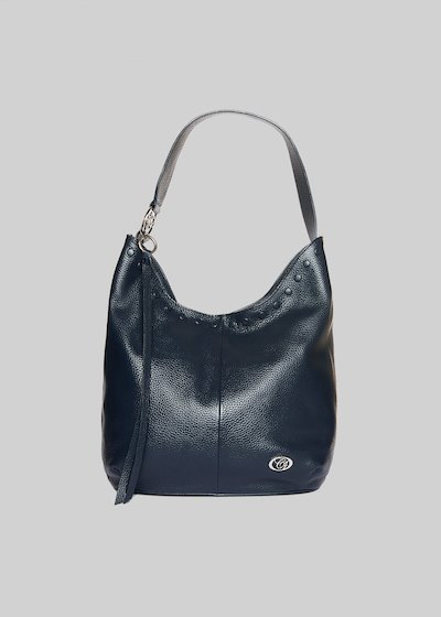 Leather Brisa bag with studs detail