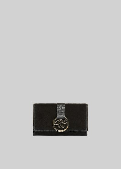 Pinky wallet genuine suede with CI logo detail
