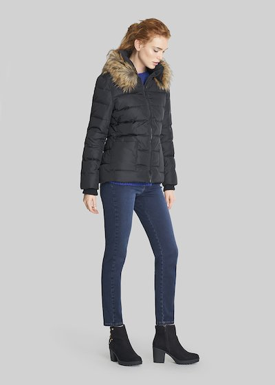 Pearl short down jacket with inner hood