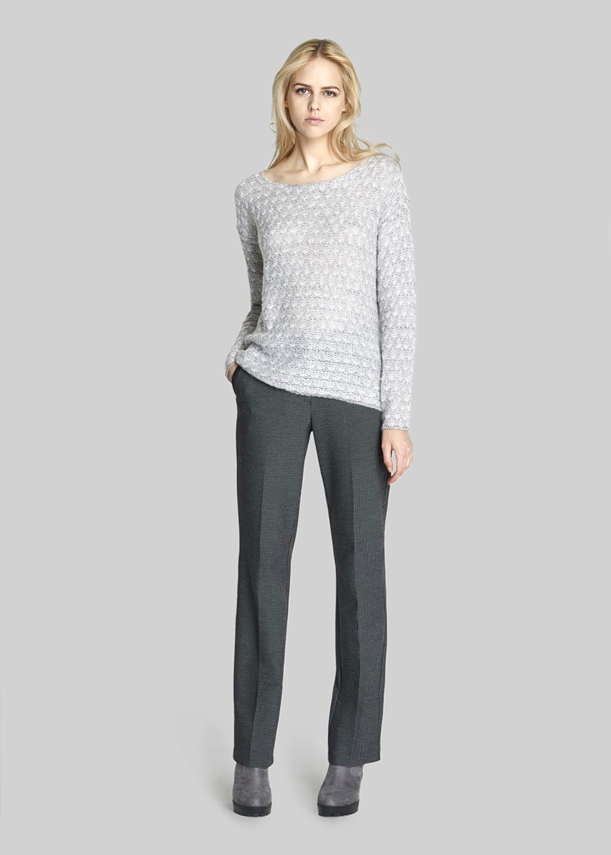 Mirelle Jersey with raglan sleeves - Medium Grey Melange
