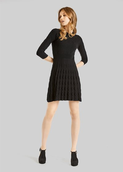 Astrid knit dress with full skirt