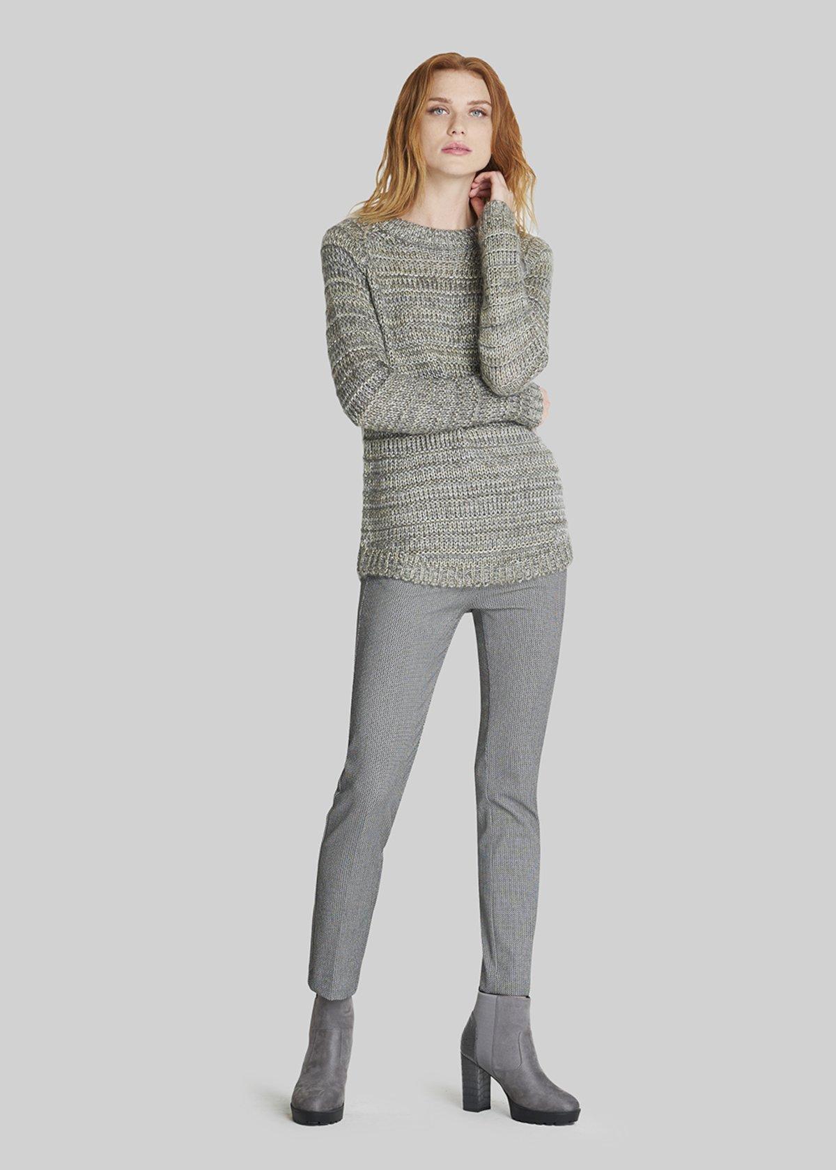 Mabell multicolour sweater - Medium Grey Melange / Lurex - Woman - Category image