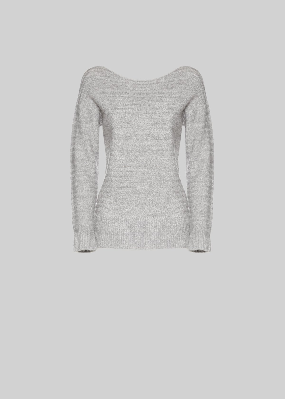 Muse sweater stripes effect - Medium Grey Melange