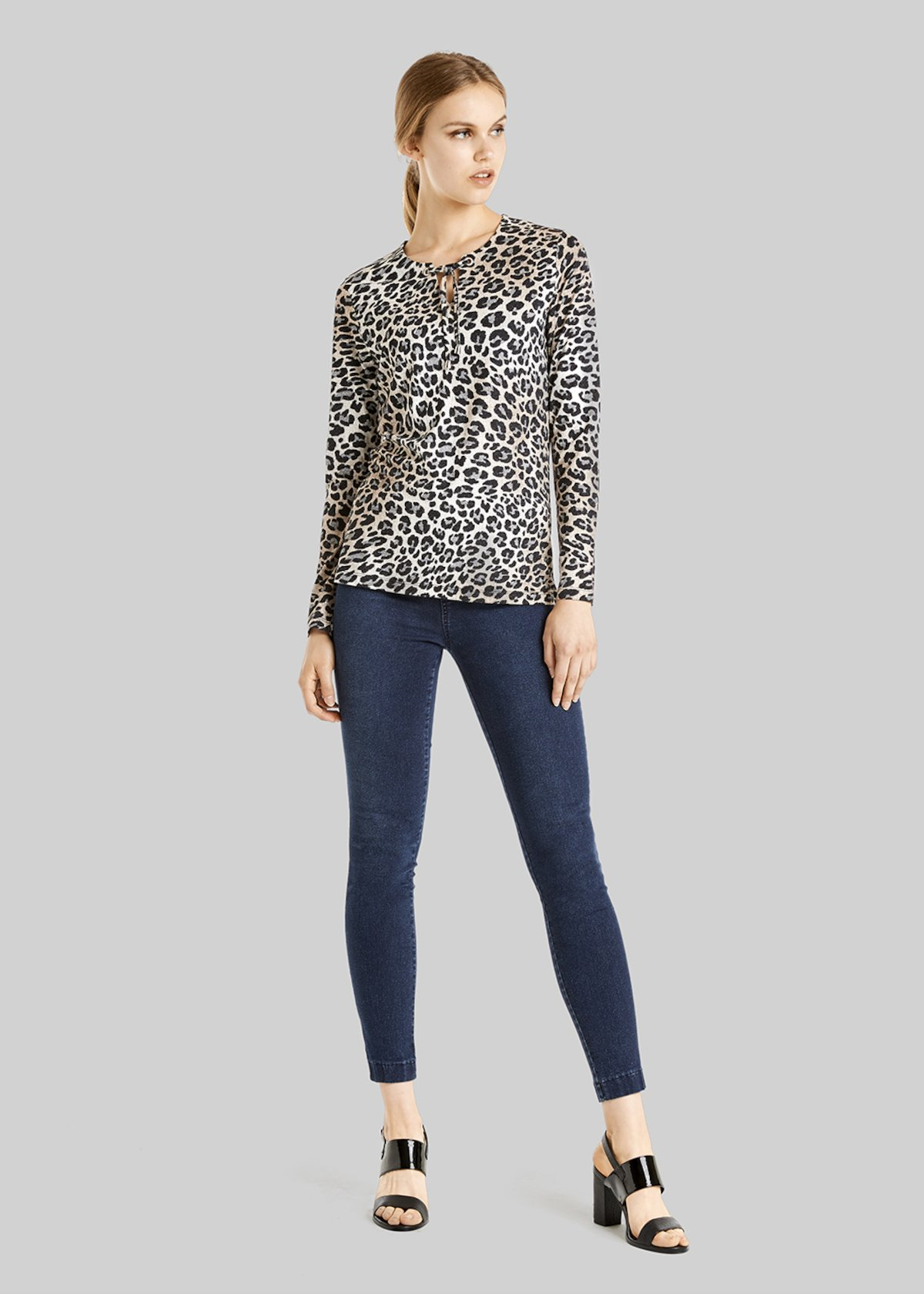 Martin sweater with animal print - Black\ Beige\ Animalier - Woman - Category image