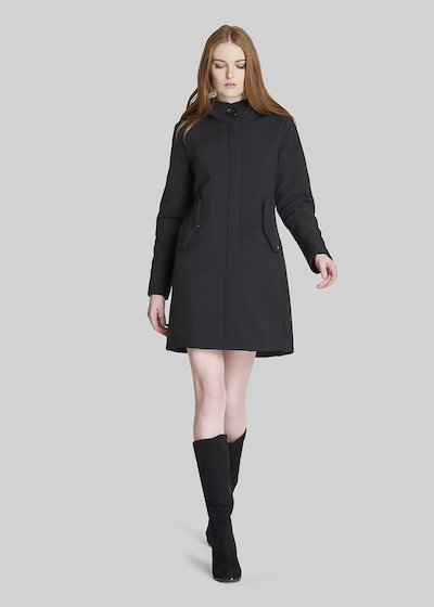 Cristofer coat with hood and central zip