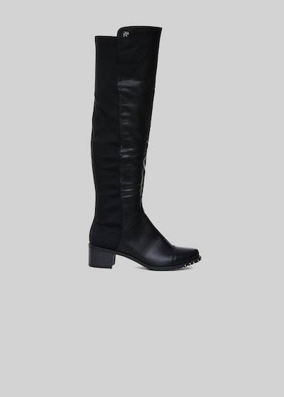 Sharyl boots in faux leather with lycra inserts