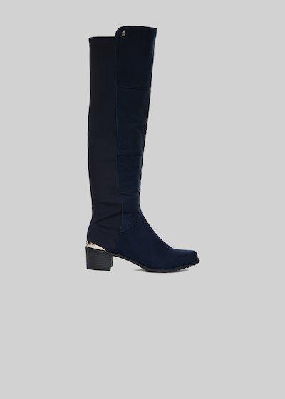 Stivali Sindy in fake suede con dettaglio metal sul retro