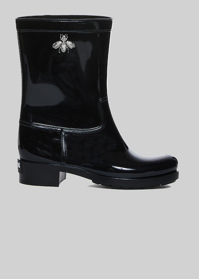 Radija rain boots with bee detail in silver color