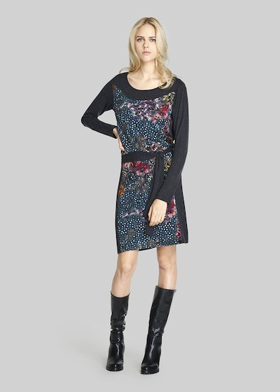 Alcazar knit dress with waist belt