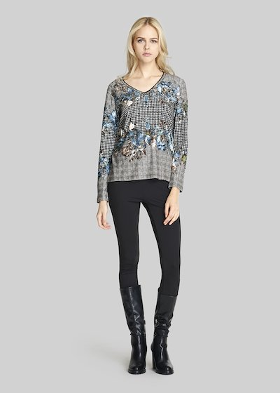 Madh sweater with floral pattern and bead detail