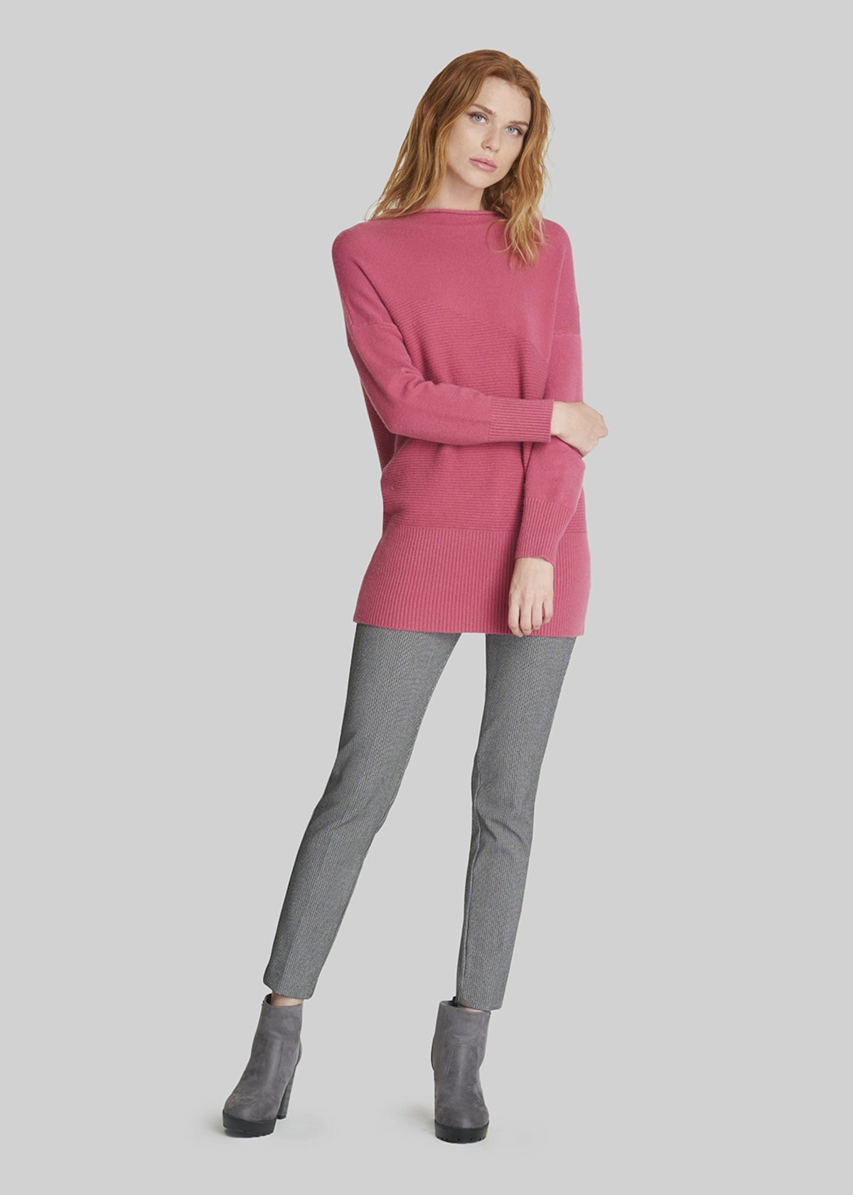 Moya Long sleeve half neck sweater - Dahlia
