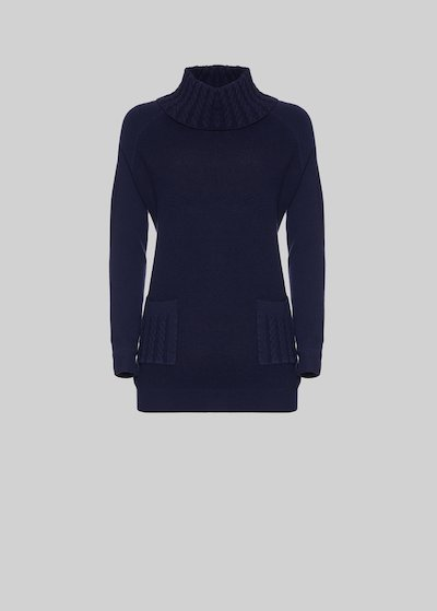 Murphy sweater with high collar and front pockets