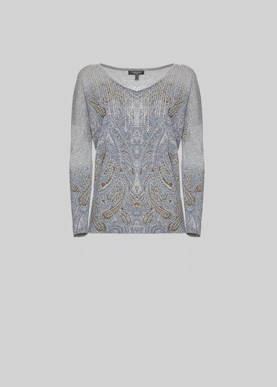 Monis Rhinestone sweater v-neck
