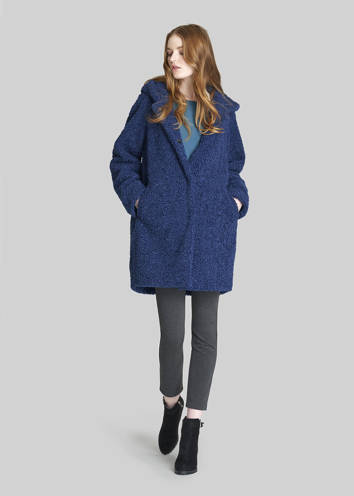 Camilo coat of faux fur with long sleeves - Mercury