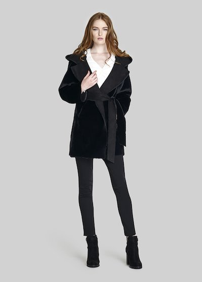 Castor Coat with hood and waist belt