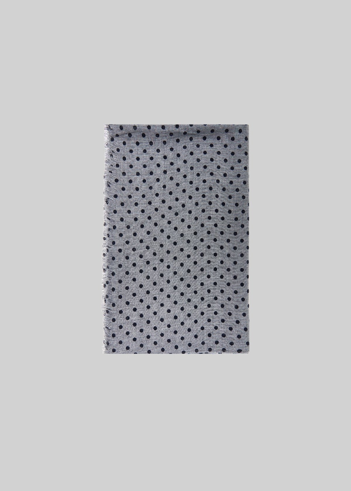 Sciarpa Smilla in velluto con fantasia a pois - Medium Grey
