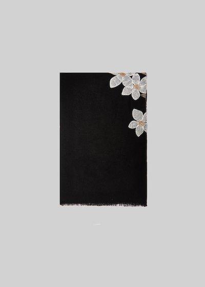Sciarpa Serma con fiori ricamati