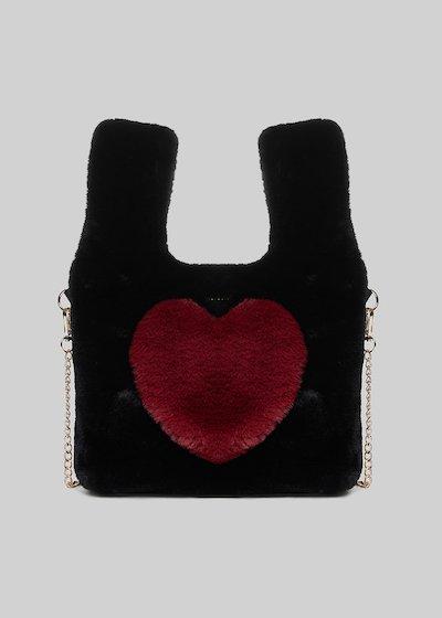 Ecofur bag Balla con dettaglio cuore in chili color