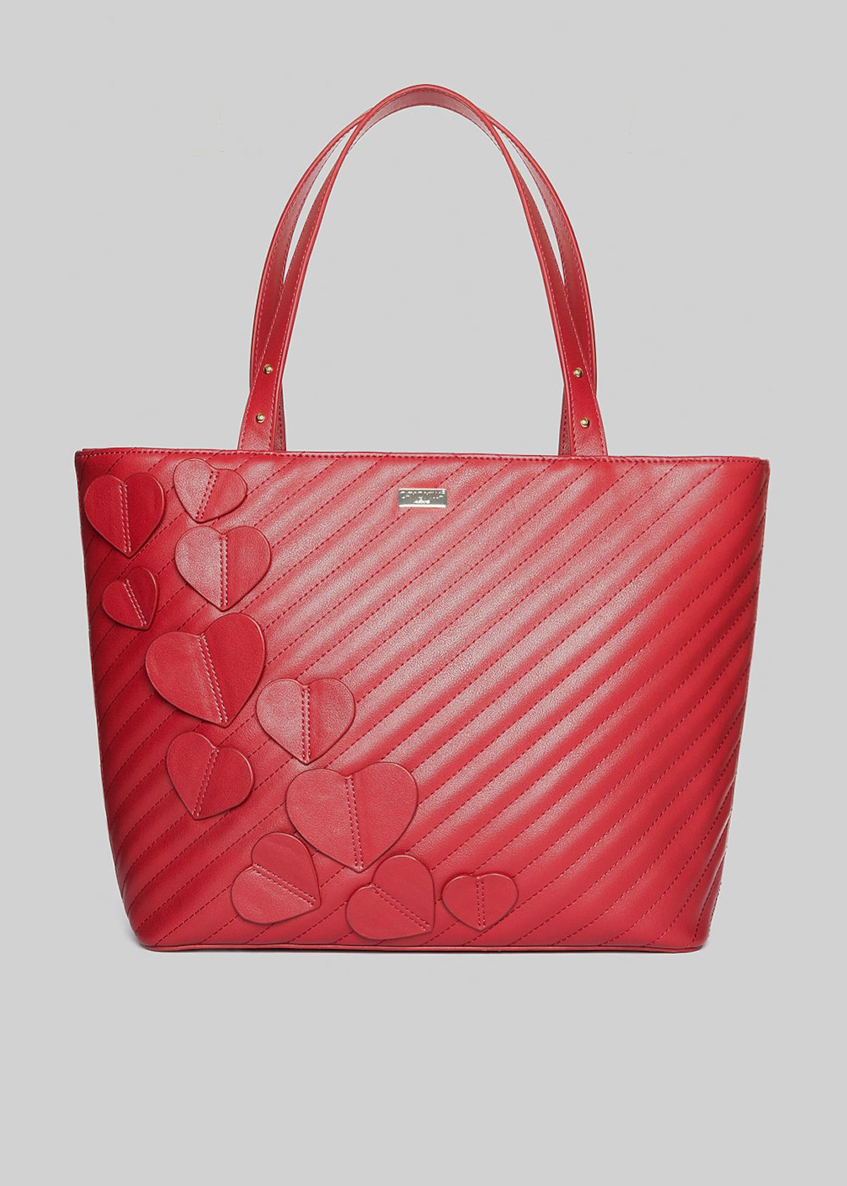 Shopping bag Baika con cuori applicati