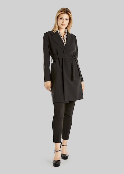 Tiger trench coat in technical fabric with lapels