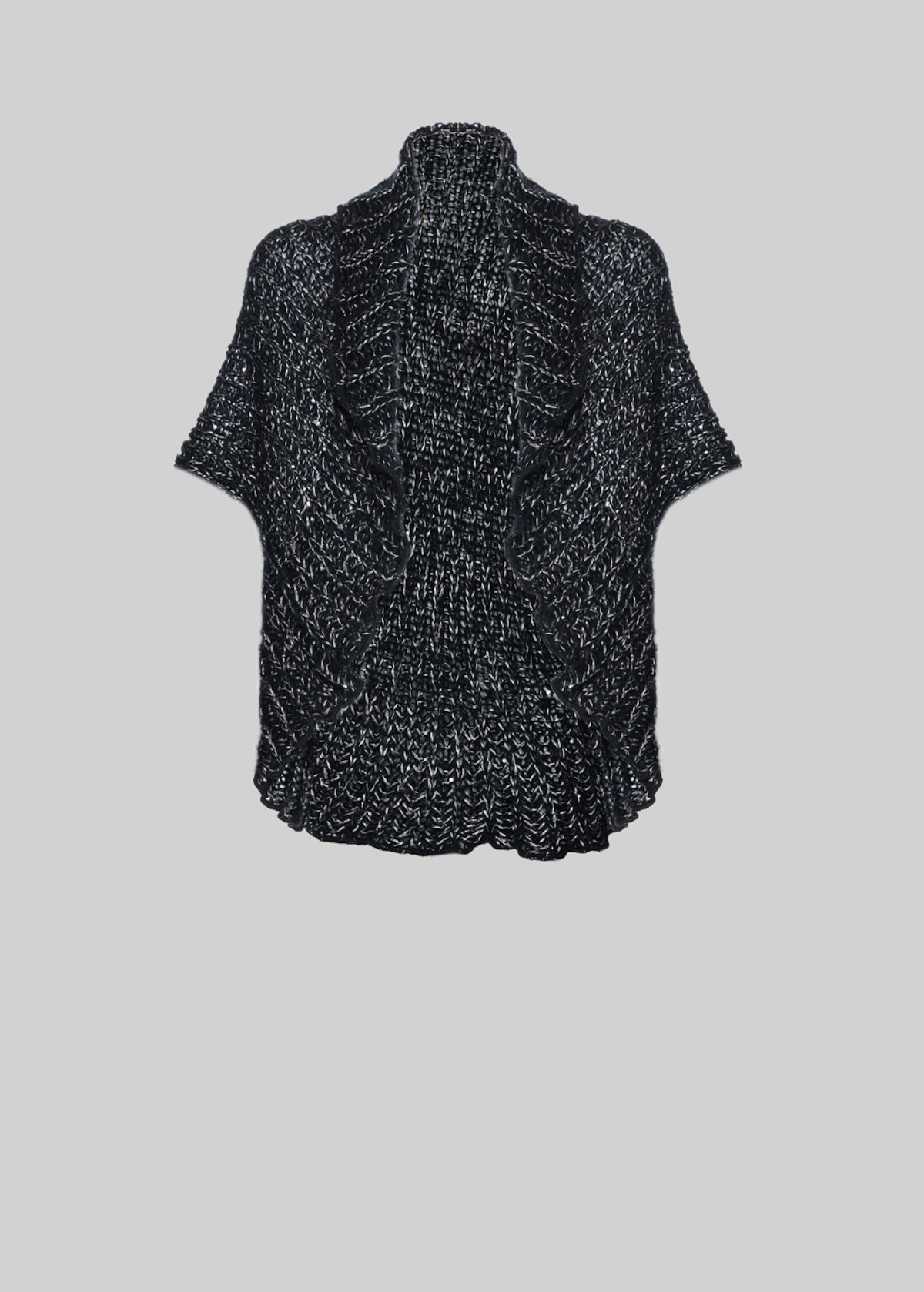 Clea knit shrug with sequins detail - Dark Blue / Silver