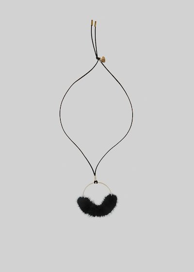 Chery necklace in fake suede