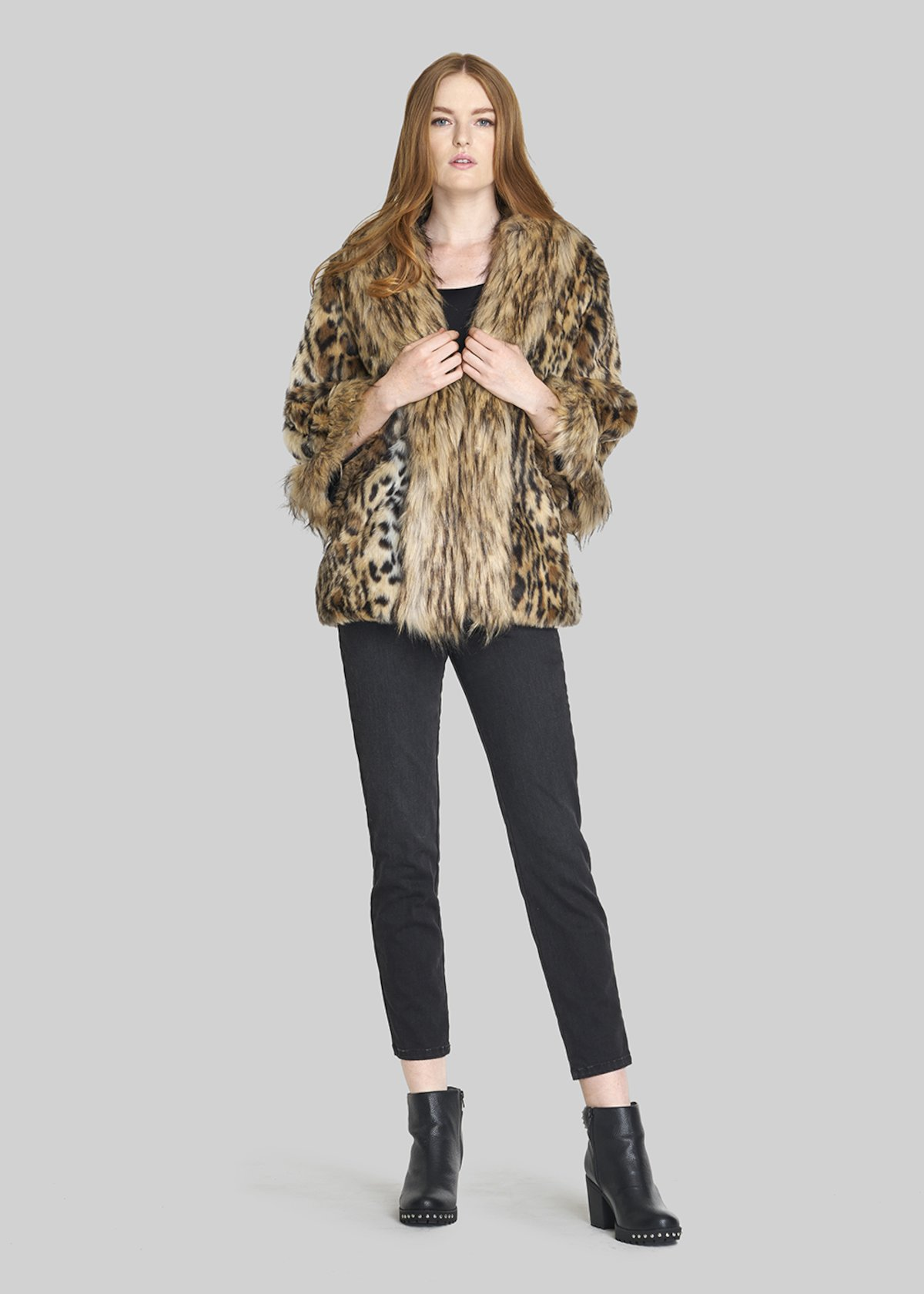 Faux fur Gabril coat with over fur collar