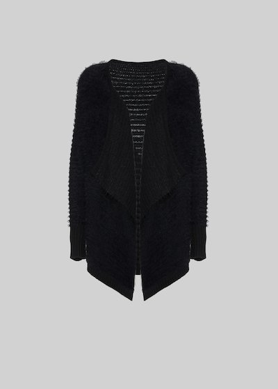 Calyd cardigan with fur effect