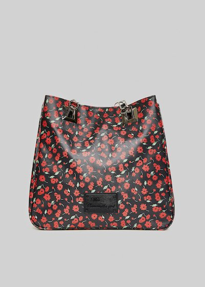 Shopping bag Mmissflo2 flowers print con doppi manici
