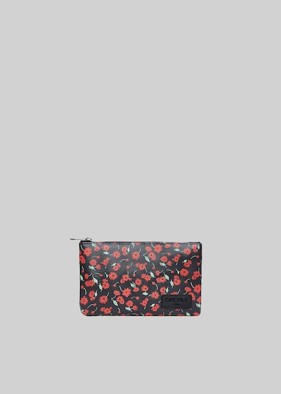 Tongaflo2 clutch bag in faux leather flowers print