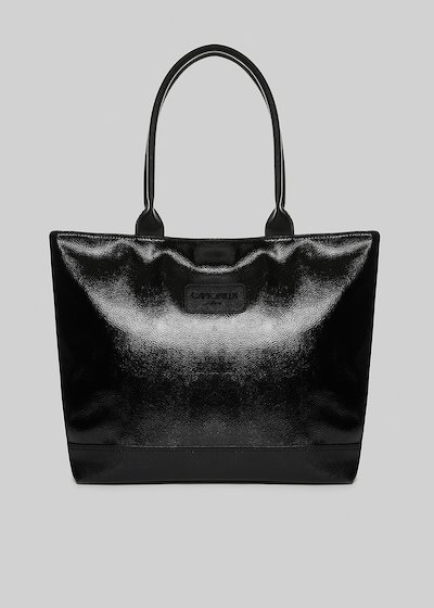 Trendmeta shopping bag with saffiano faux leather details
