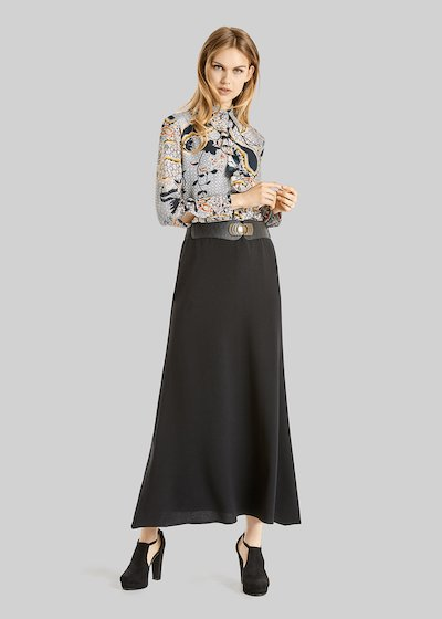 Camicia Camilla in crépe con dettaglio rouches