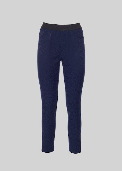 Pantaloni Paride jeggings in tessuto damascato
