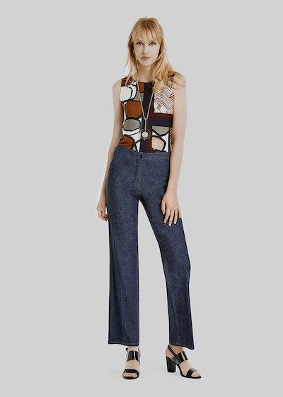 Piky Slant Pocket cotton trousers