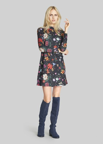 Arthur dress floral fantasy in scuba crepe