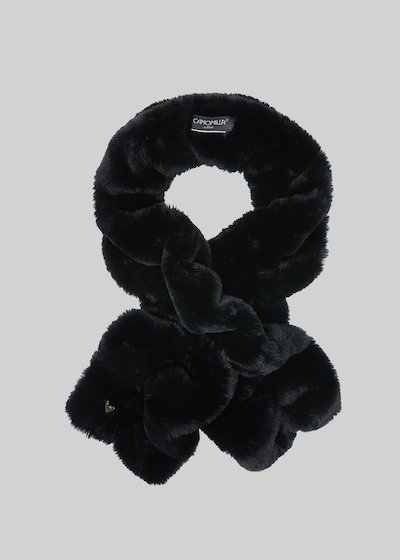 Elastic scarf Said in fake fur